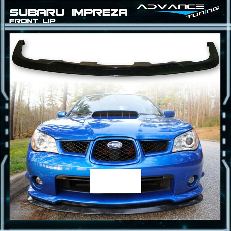 fit for 06 07 subaru impreza wrx sti s204 front bumper lip. Black Bedroom Furniture Sets. Home Design Ideas