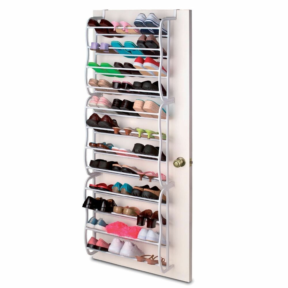 36 pair over the door hanging shoe hook shelf rack holder storage organiser ebay. Black Bedroom Furniture Sets. Home Design Ideas