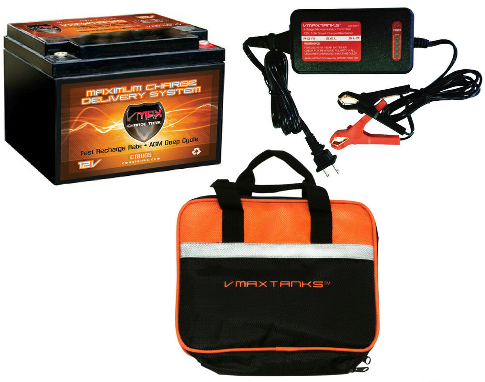 Vmax 800s 3 3a Charger Case 12v Agm Battery Ideal For