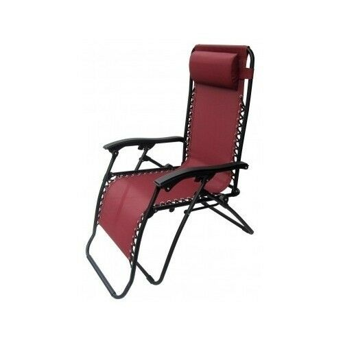 Gravity chair burgundy anti gravity chaise lounge recliner beach patio