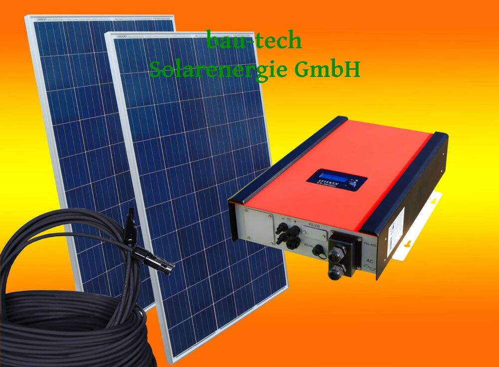 2000watt photovoltaikanlage solaranlage eigenverbrauch f r die steckdose ebay. Black Bedroom Furniture Sets. Home Design Ideas