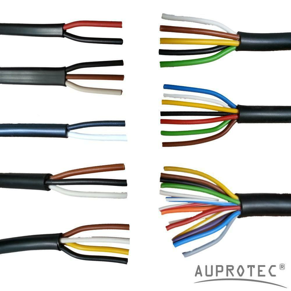 auprotec 5m 50m automotive 2 13 core electrical auto trailer light wiring loom sankey trailer wiring loom