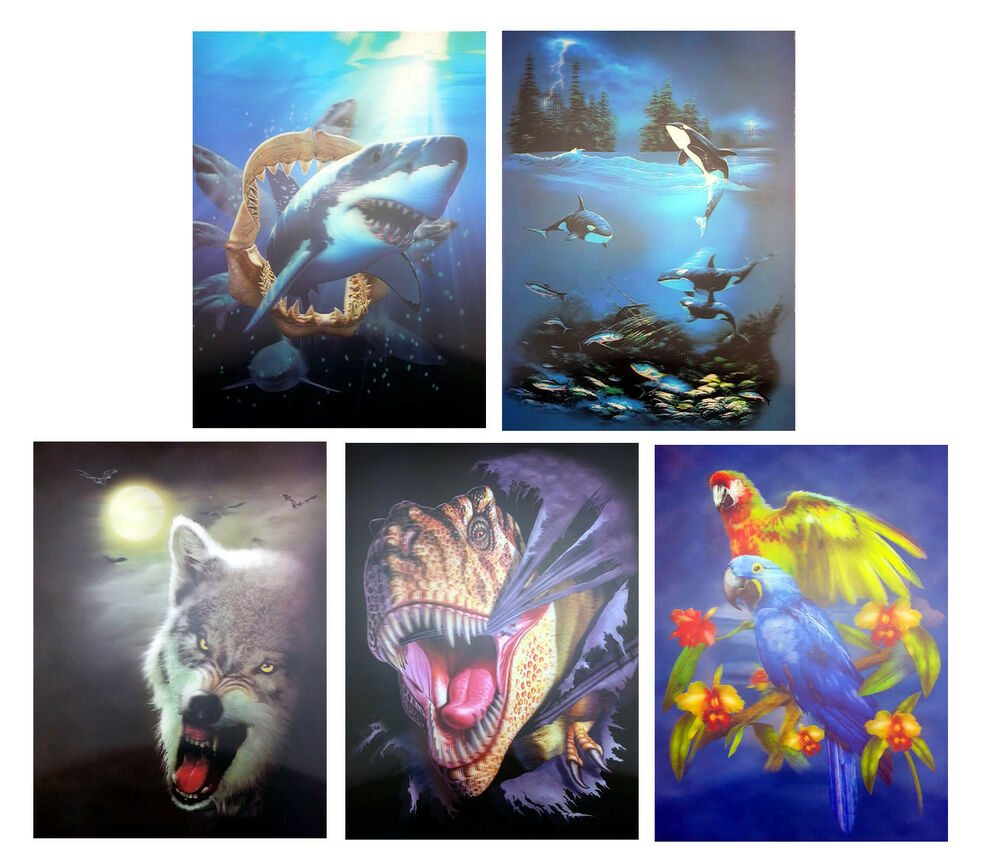Wall Art Decor Posters : New d pictures posters lenticular animal art picture