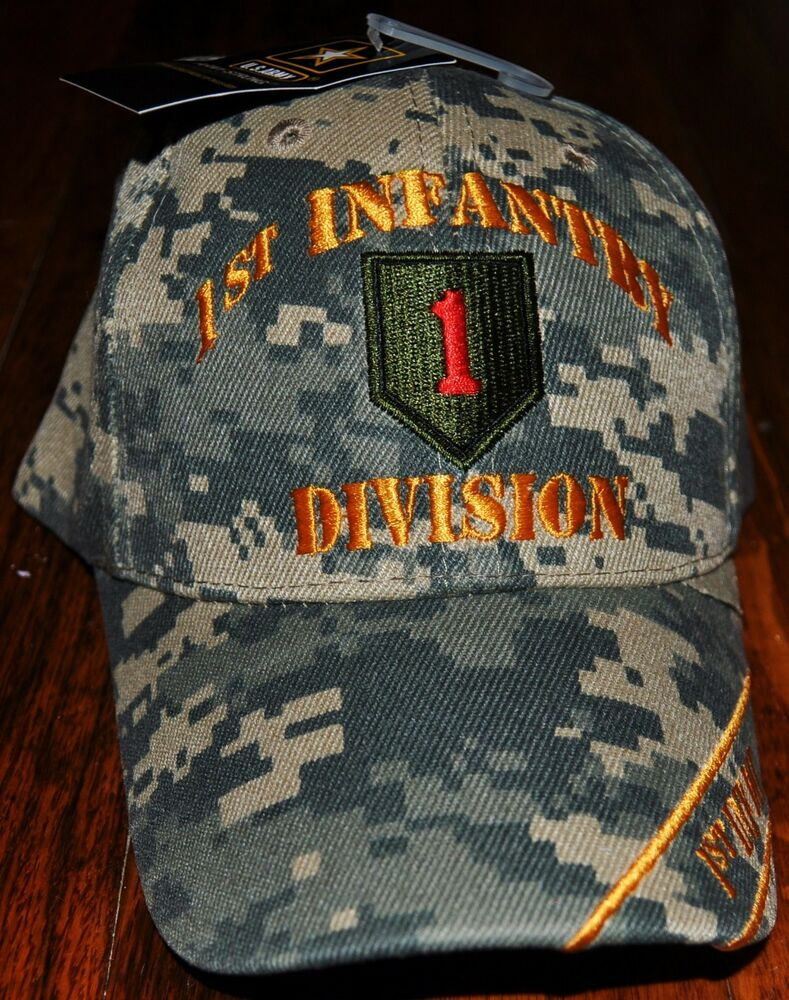 Military Camo 1st First Infantry Division Army Hat