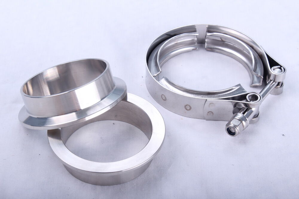 "2"" 51mm V-Band Flange Stainless Turbo Exhaust Clamp Pipe ..."