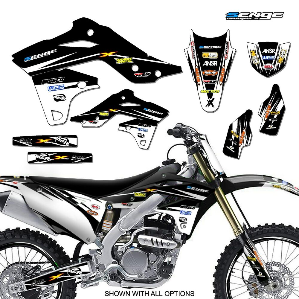 2006 2007 2008 kxf 250 graphics kit kawasaki kx250f kx f 250f deco decals moto ebay