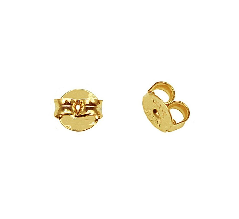 14k yellow gold replacement butterfly earring backs