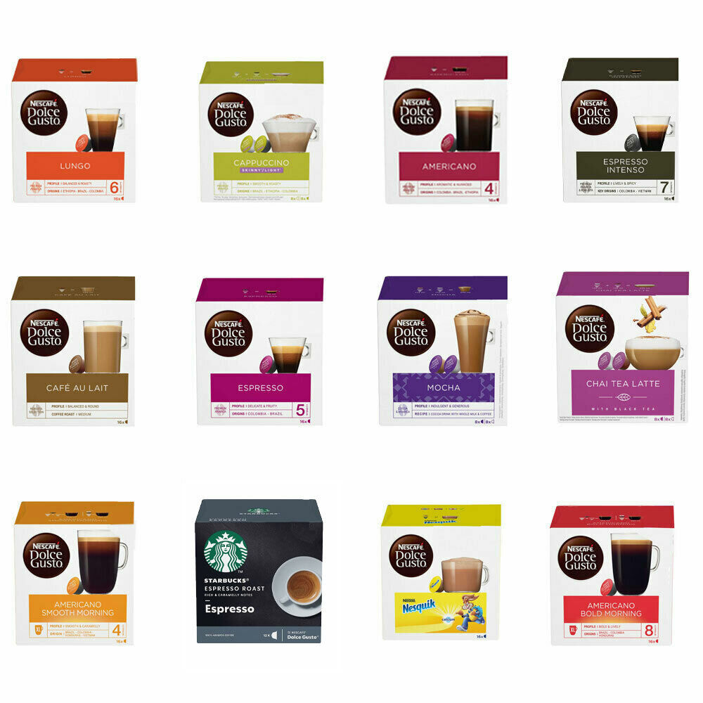 nescafe dolce gusto pods 3 boxes of 16 capsules you choose coffee latte ebay. Black Bedroom Furniture Sets. Home Design Ideas