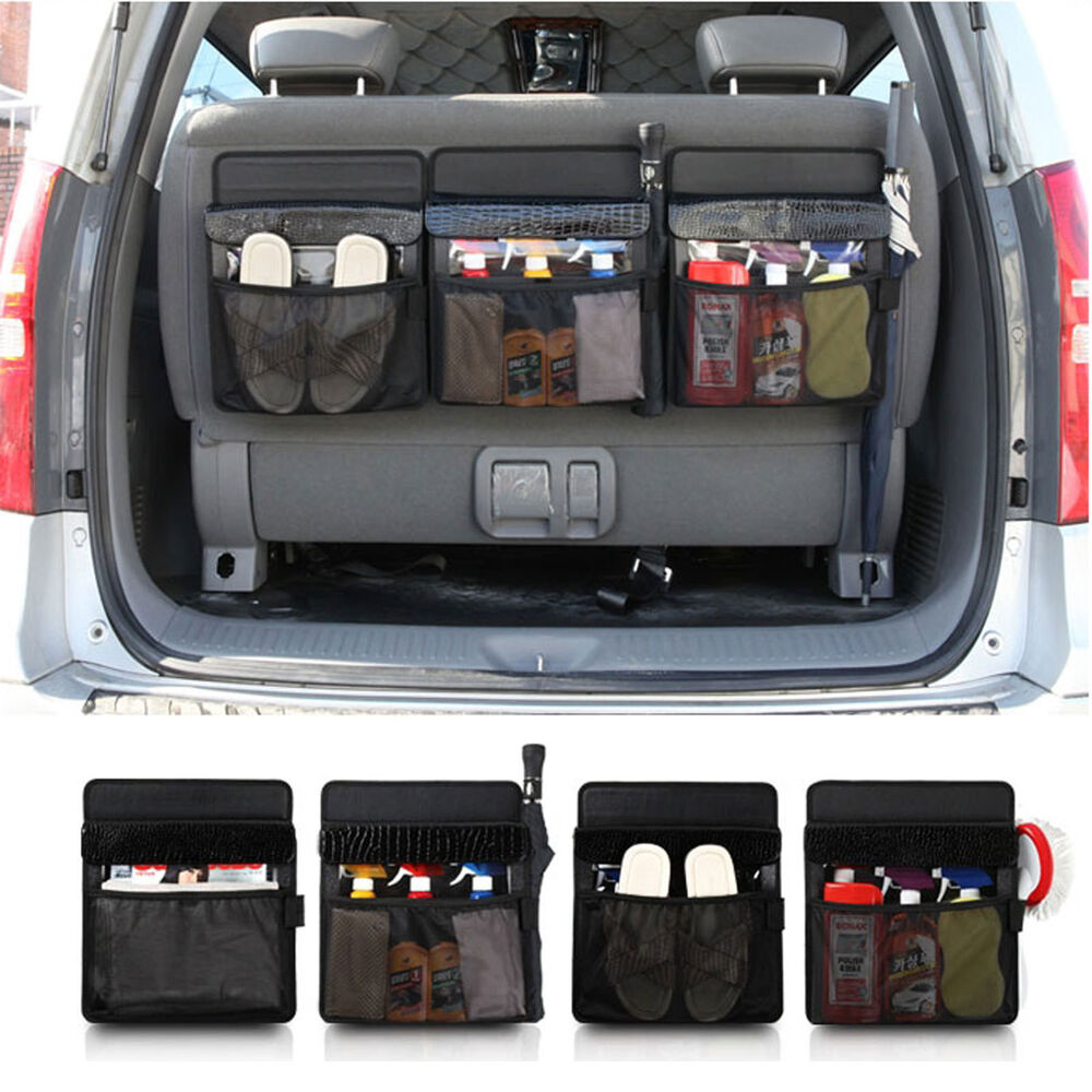 New Spider Car Trunk Cargo Organizer Lid Colsole Storage ...