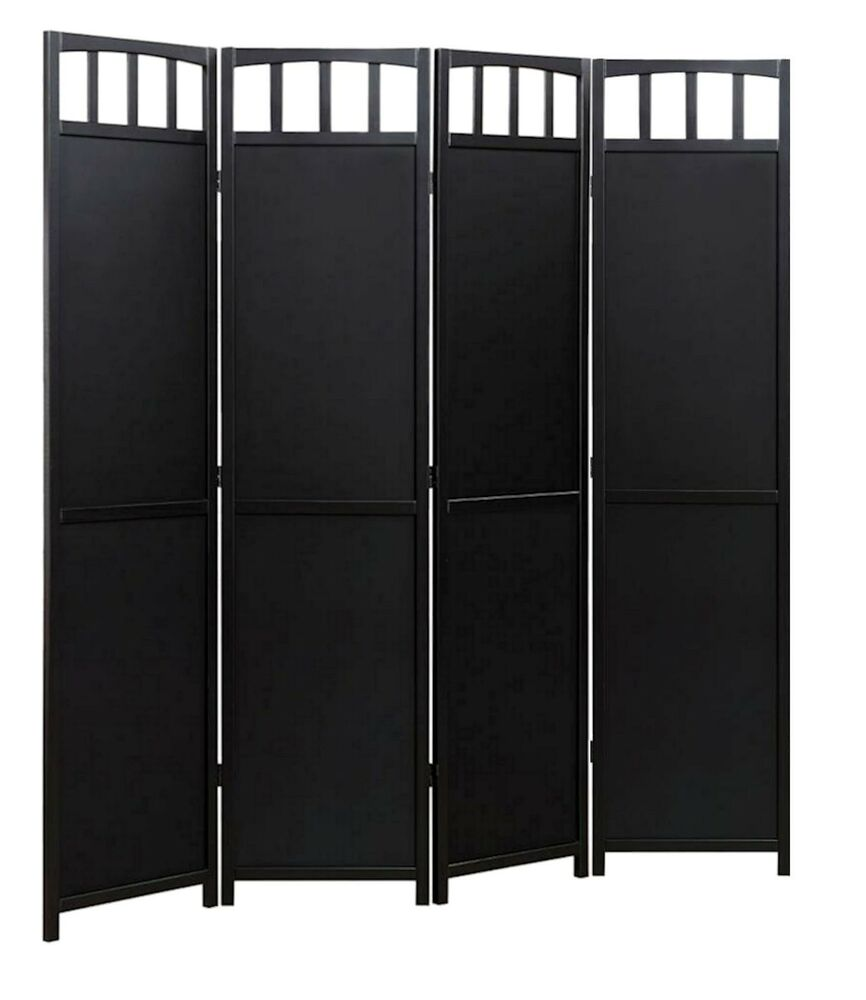 4 Panel Solid Wood Room Screen Divider Black Finish  Ebay. Salt Rooms. Decorative Jar. Futures Trading Room. Barnyard Decorations. Star Light Decoration. Lesbian Wedding Decorations. Daycare Decorating Ideas. Down Decorative Pillows