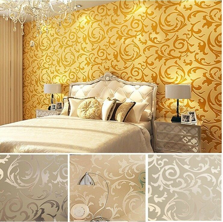 High end 10m luxury embossed patten textured wallpaper for High end wallpaper