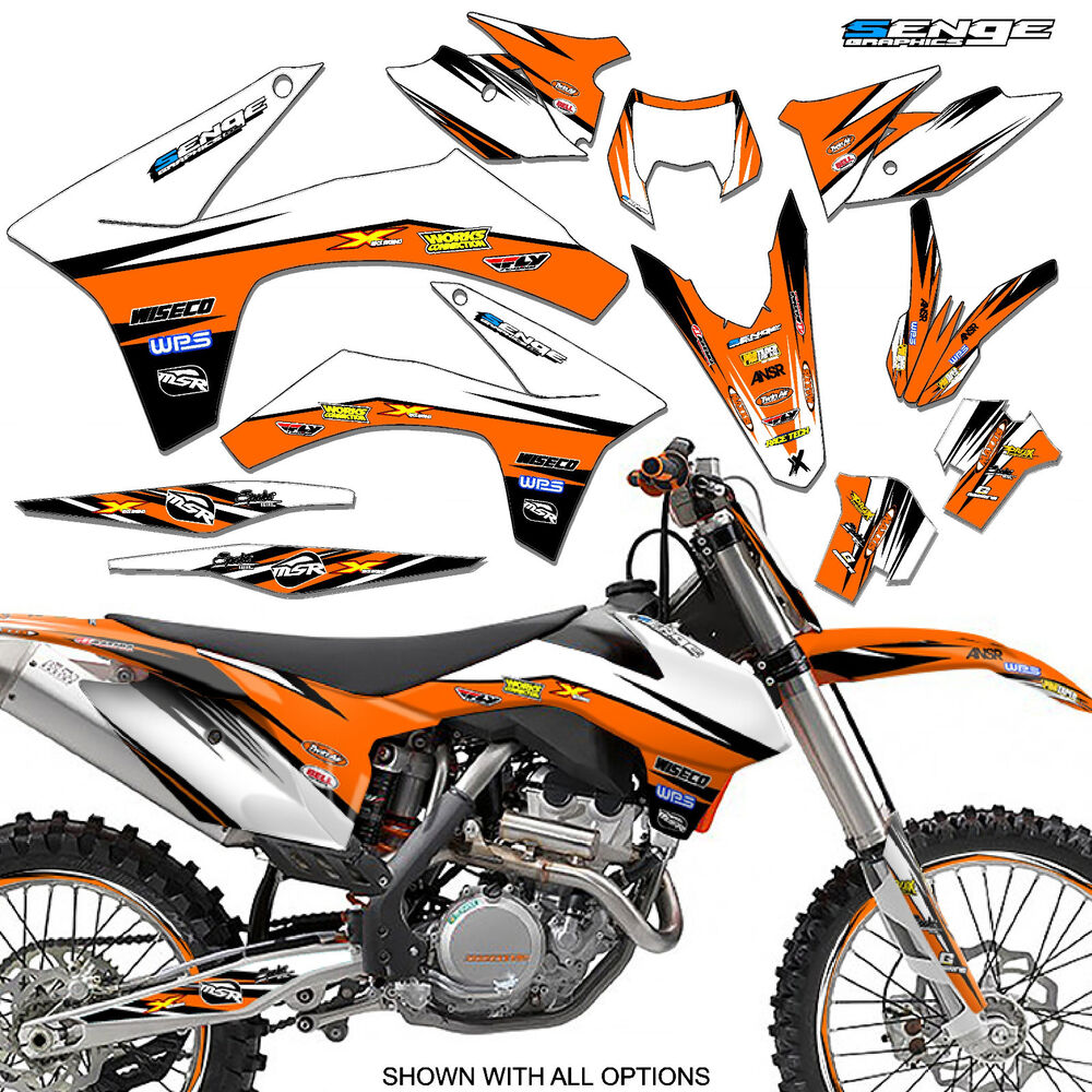 2005 2006 2007 ktm exc 300 400 450 525 graphics kit deco for Sticker deco