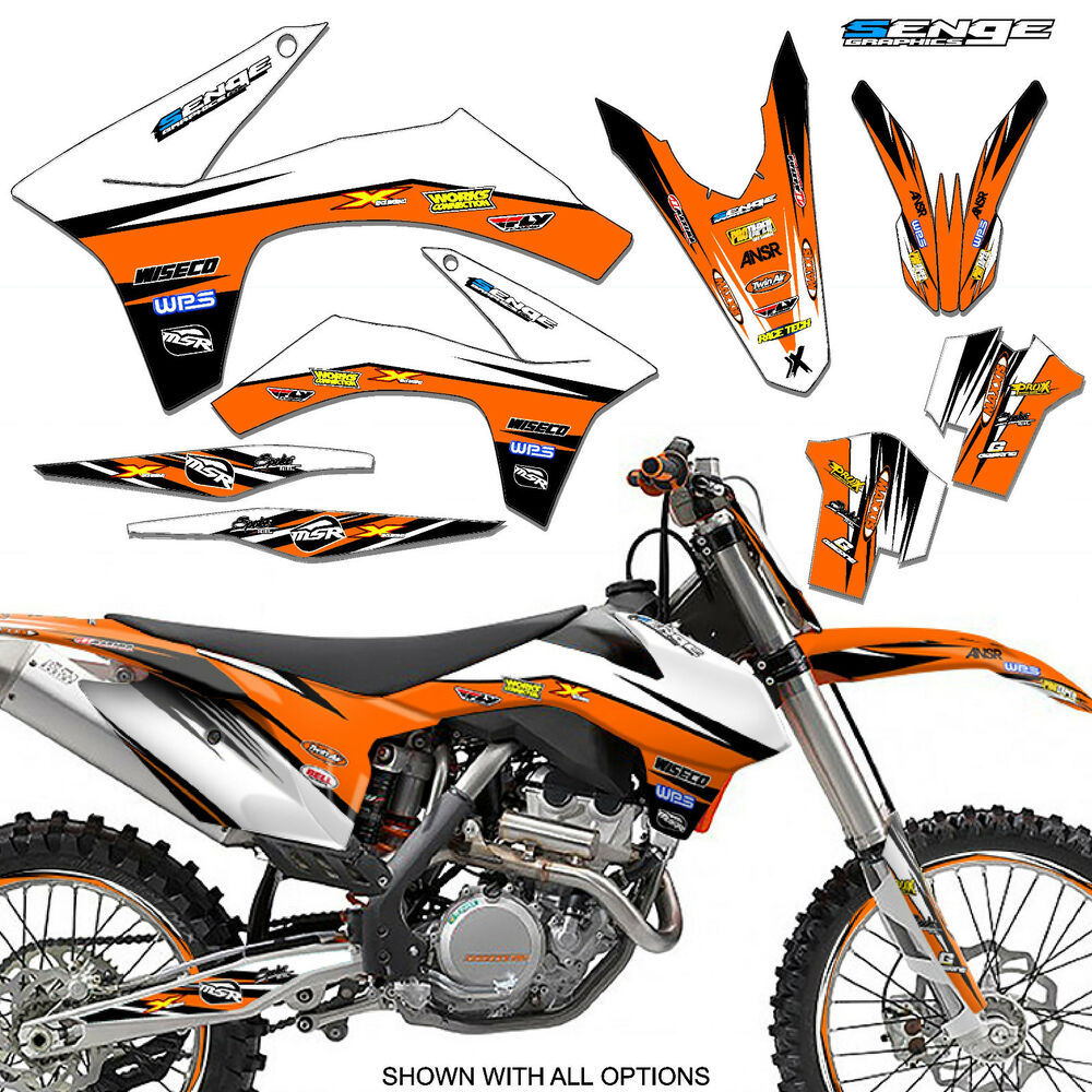 2008 2009 2010 Ktm Xc Xcf Xcw 125 200 250 300 450 525 530 Graphics Deco Decals