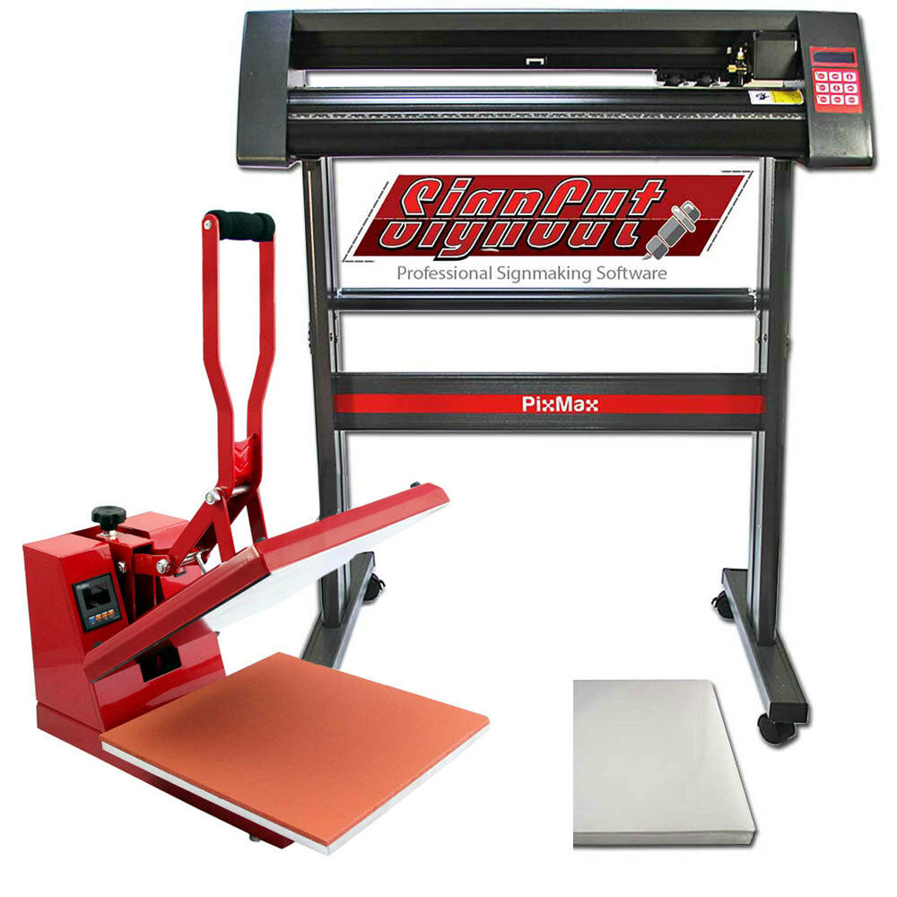 Vinyl Cutter Plotter Sublimation Heat Pressing Set Flat