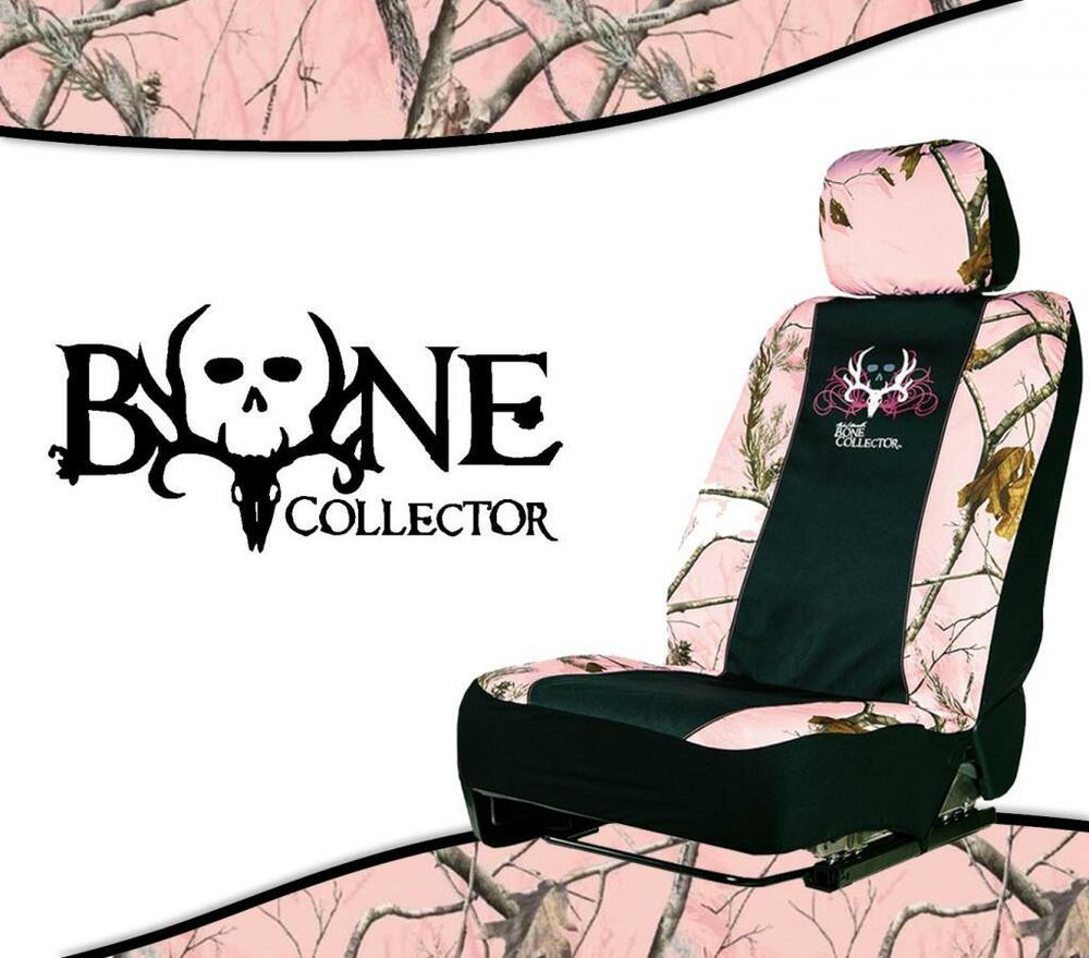 Pink Realtree Bone Collector Universal Camo Seat Cover Low Back Seat Cover Ebay