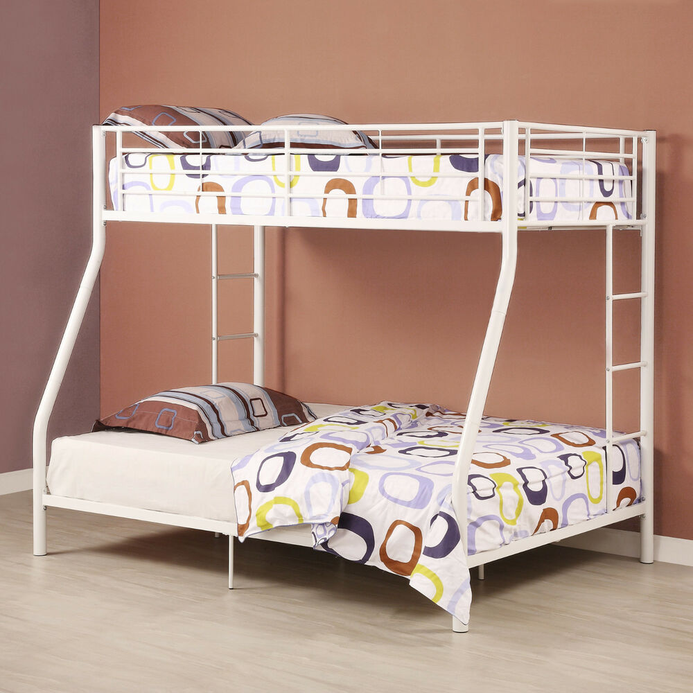 Stylish Steel Frametwin Full Bunk Bed With Built In