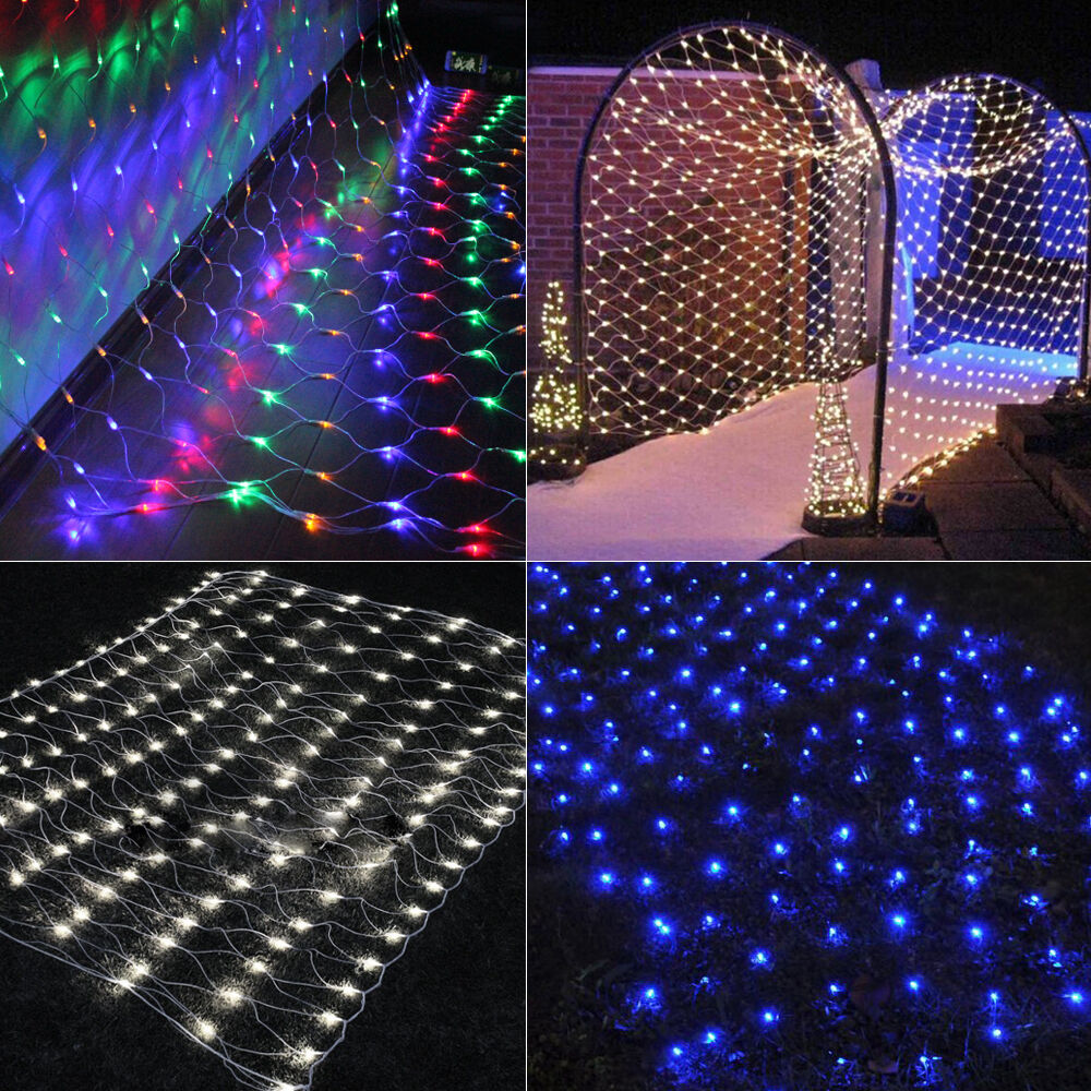 Led Christmas Wall Lights : 3Mx2M LED Xmas Holiday Garden Curtain House Window Wall Fairy String Net lights eBay