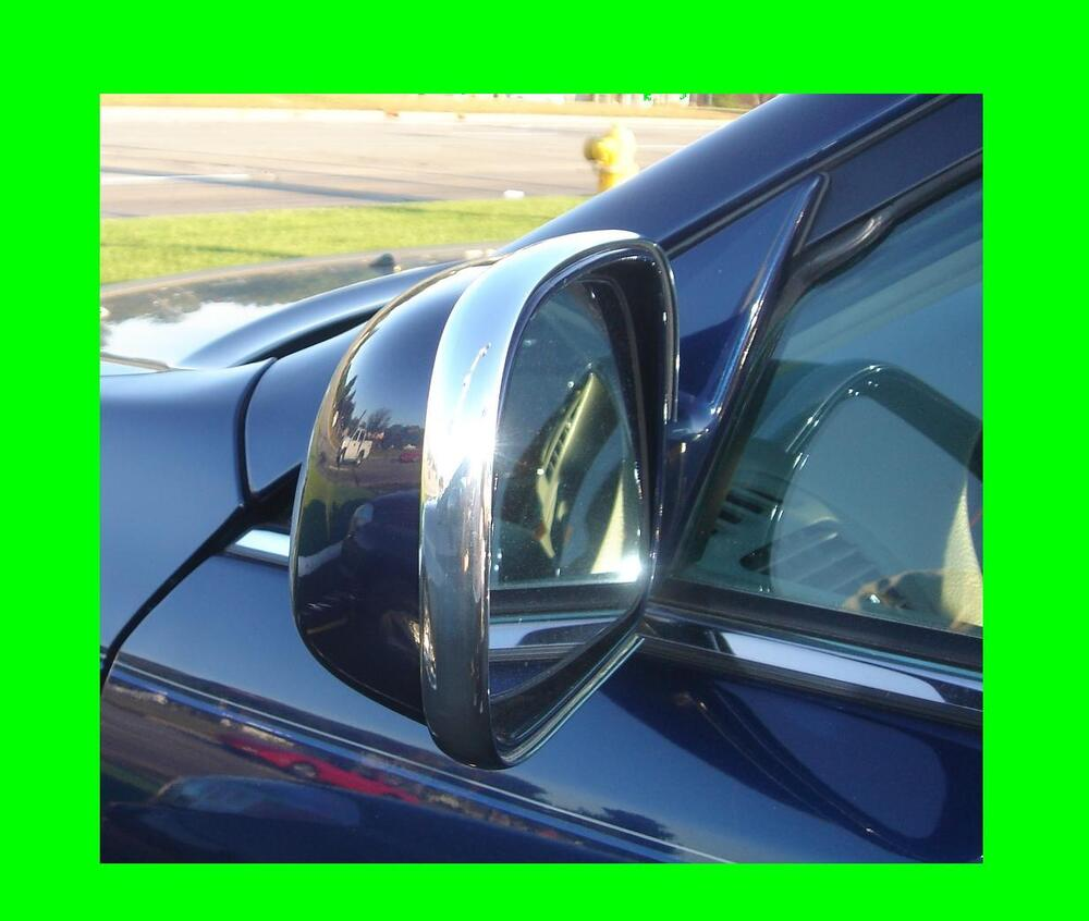 2 piece chrome mirror molding trim kit for chevrolet models ebay. Black Bedroom Furniture Sets. Home Design Ideas