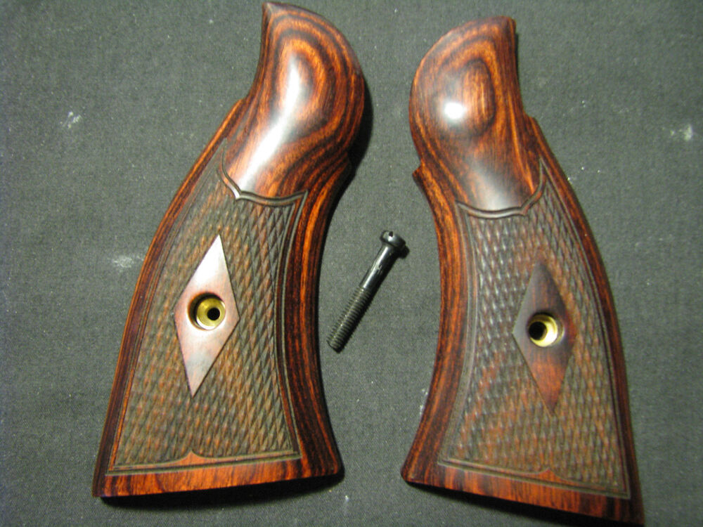 Smith Wesson K L Frame Square Butt Rosewood Grips