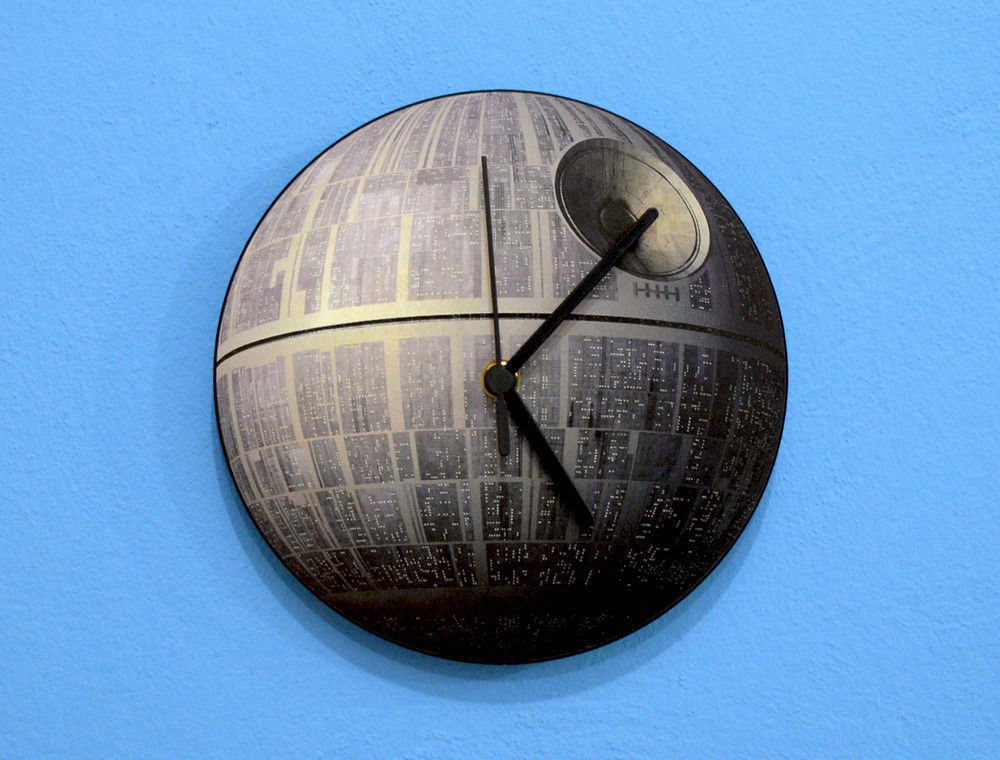 Deathstar Star Wars Darth Vader Wall Clock Ebay