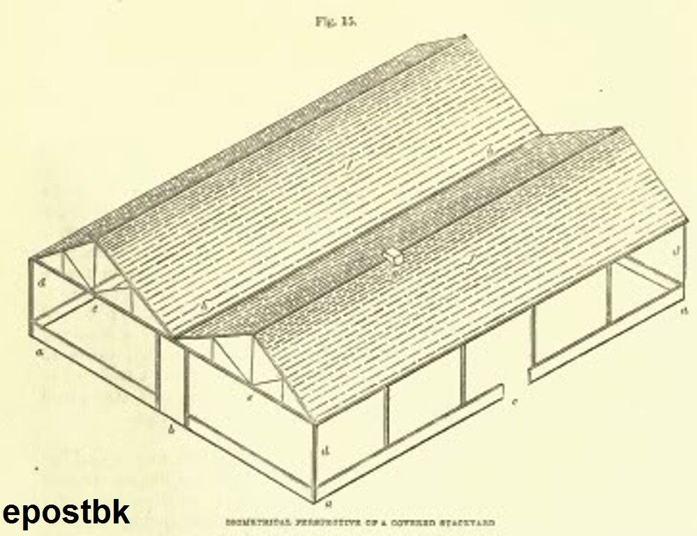 Barn poultry farm building plans dairy stables chicken for Farm barn plans