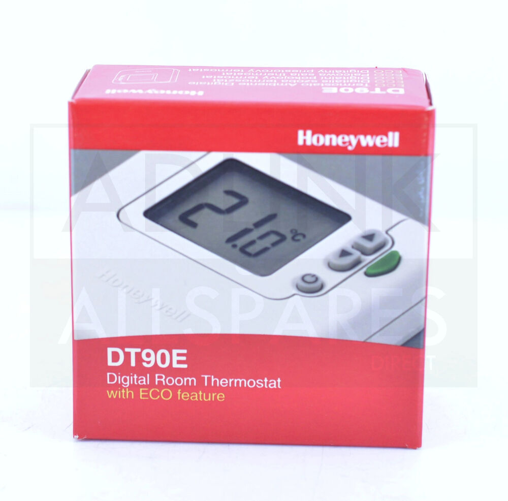 honeywell dt90e digital room thermostat with eco featur ebay. Black Bedroom Furniture Sets. Home Design Ideas