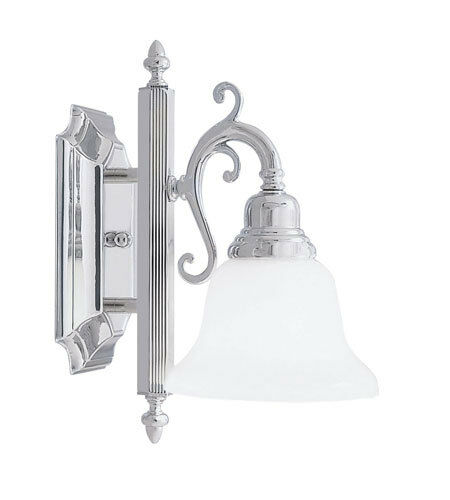 new livex 1l french regency wall sconce vanity bath lighting chrome lamp 1281 05 ebay