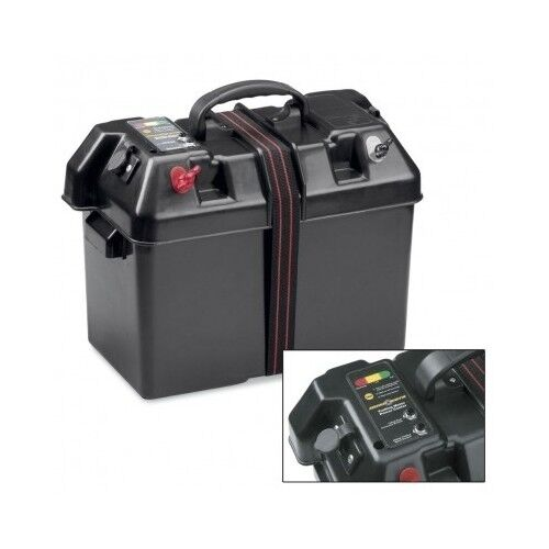 Trolling motor power center marine battery case electric for Marine trolling motor batteries