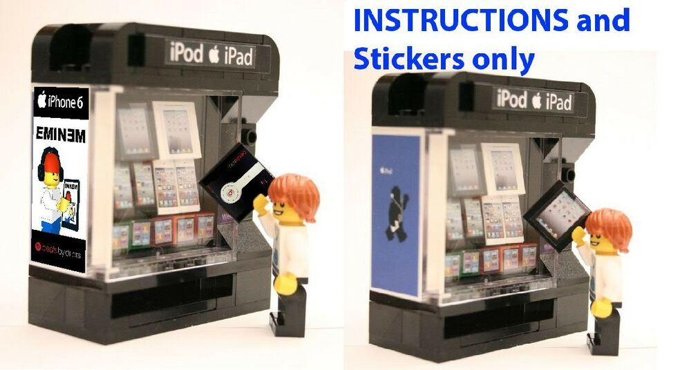 Custom Apple Vending Machine Instructions Stickers 4 Lego Modular