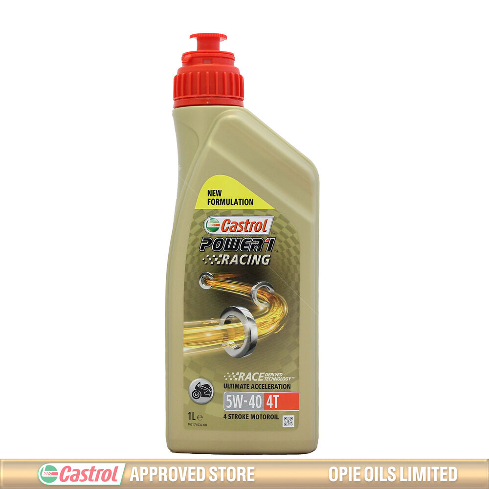 Castrol power 1 racing 4t 5w 40 engine oil 1 litre ebay for 5 w 40 motor oil
