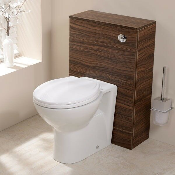 wc combination unit walnut back to wall toilet white btw pan concealed cistern ebay. Black Bedroom Furniture Sets. Home Design Ideas