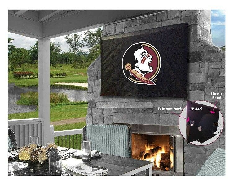 Florida State Seminoles College Black Outdoor TV Cover By