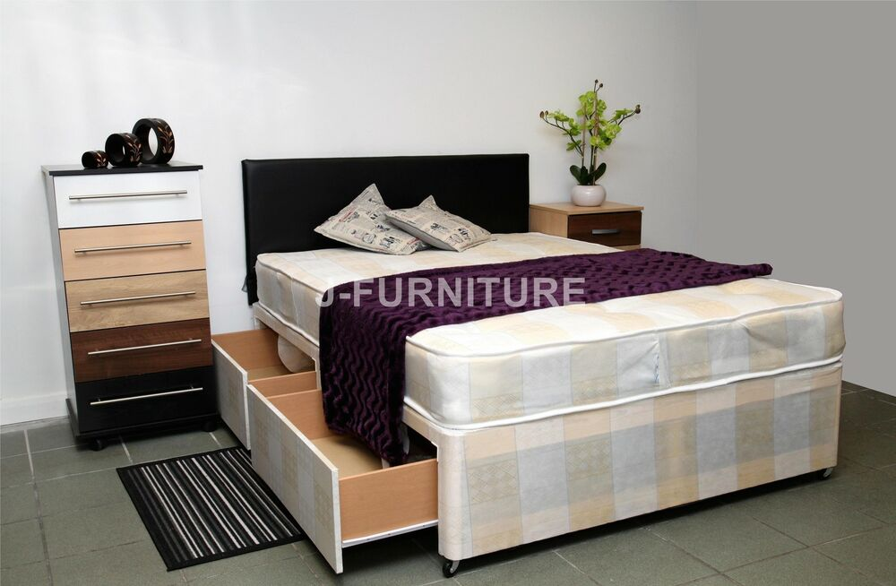 4ft Small Double Bed With Storage And Mattress Headboard Extra On Request Ebay