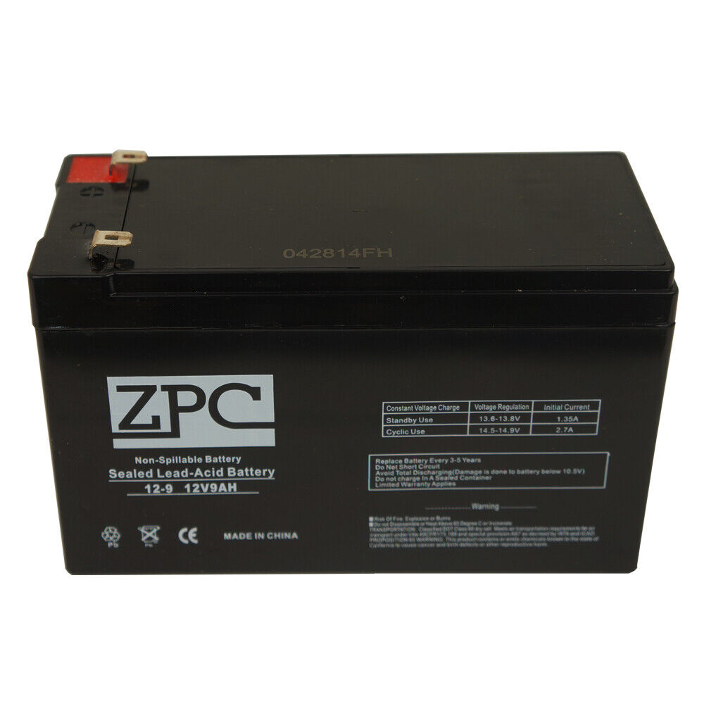zpc 12v 9ah sealed lead acid sla battery zpc 12v 9ah. Black Bedroom Furniture Sets. Home Design Ideas