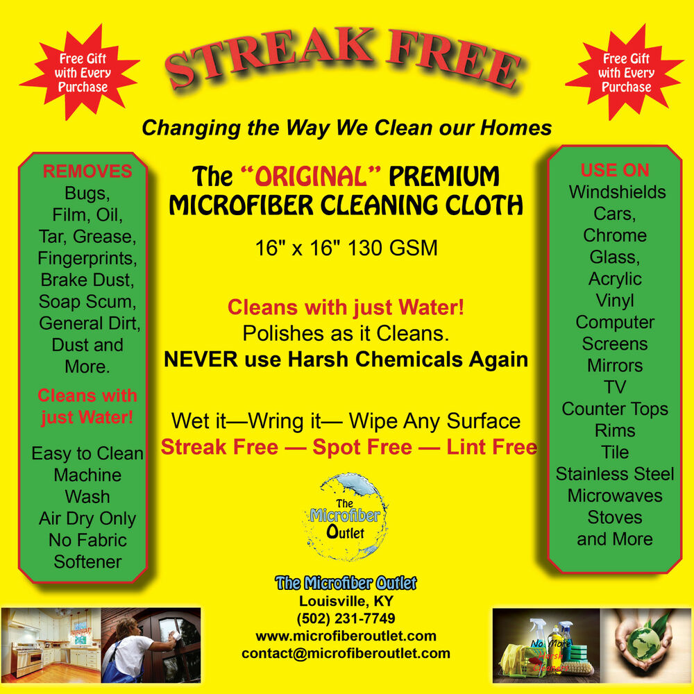 Streakfree Microfiber Cleaning Cloths Towels White 10