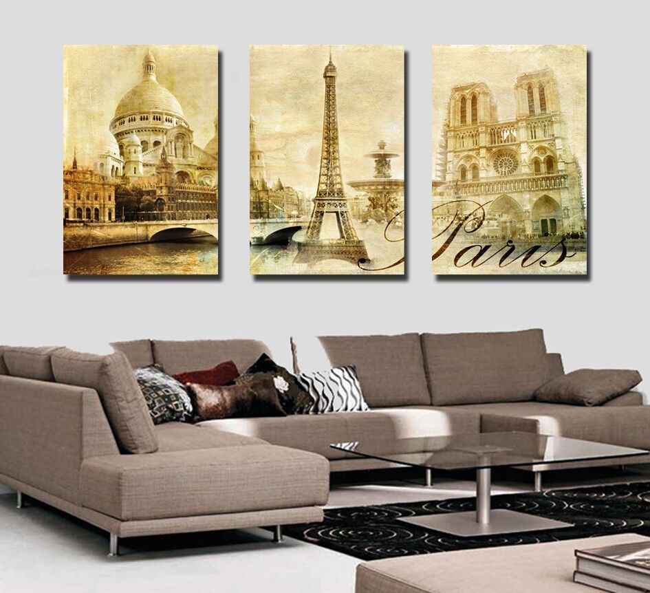 Canvas prints wall art modern photo poster decor panorama for Art decoration france