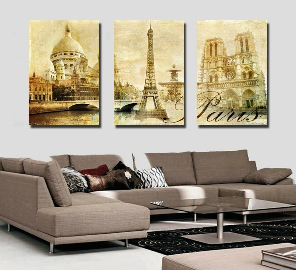 Paris Home Decor: Canvas Prints Wall Art Modern Photo Poster Decor Panorama