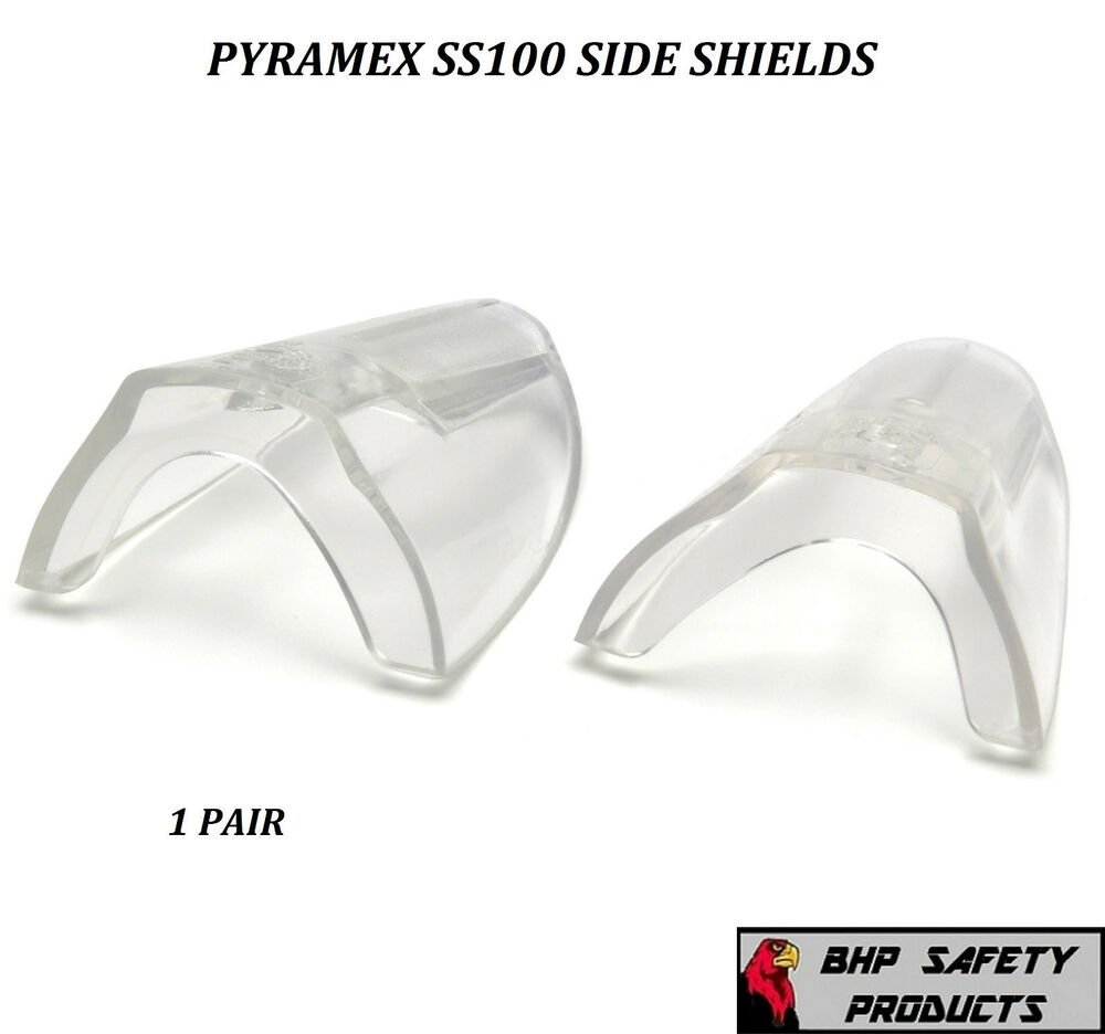 fe387a6015b Details about CLEAR UNIVERSAL FLEXIBLE SAFETY SIDE SHIELDS EYE GLASSES  PYRAMEX SS100 (1 PAIR)