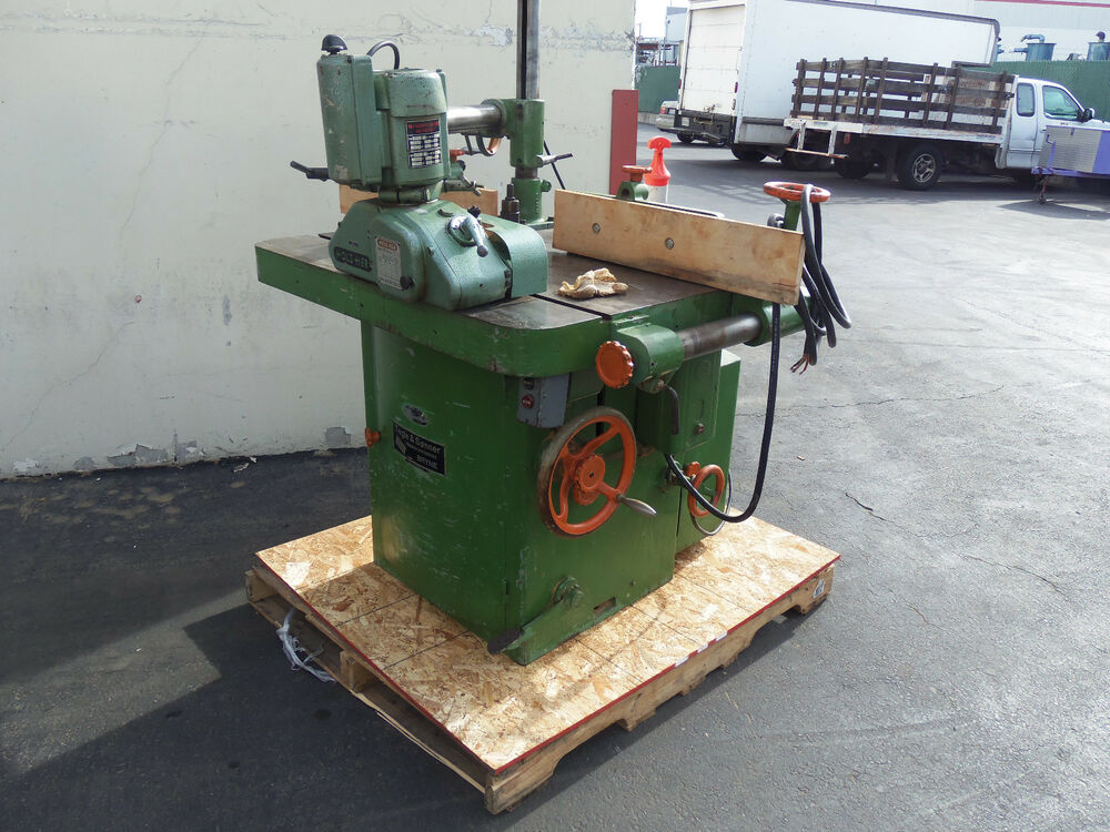 TEGLE & SONNER Heavy Duty Shaper w/Holzher Powerfeeder ...