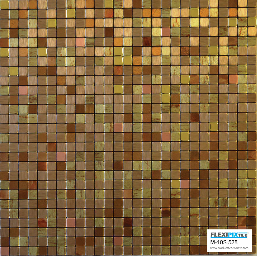 Flexipixtile Aluminum Peel Amp Stick Mosaic Tile Kitchen