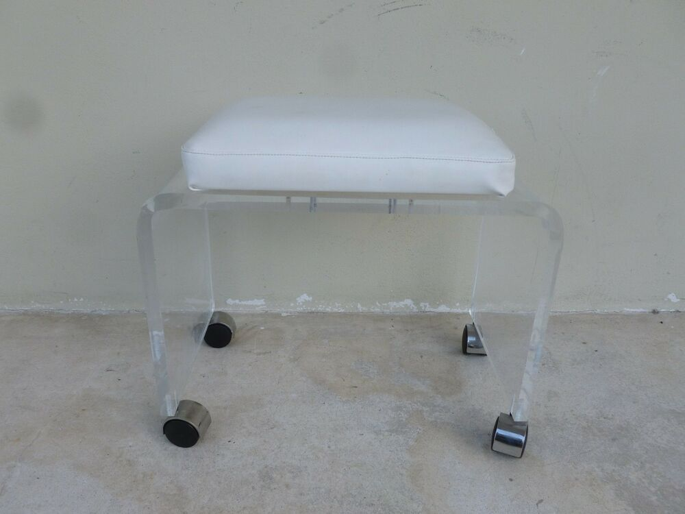 Vintage Mod Lucite Waterfall Bench Ebay