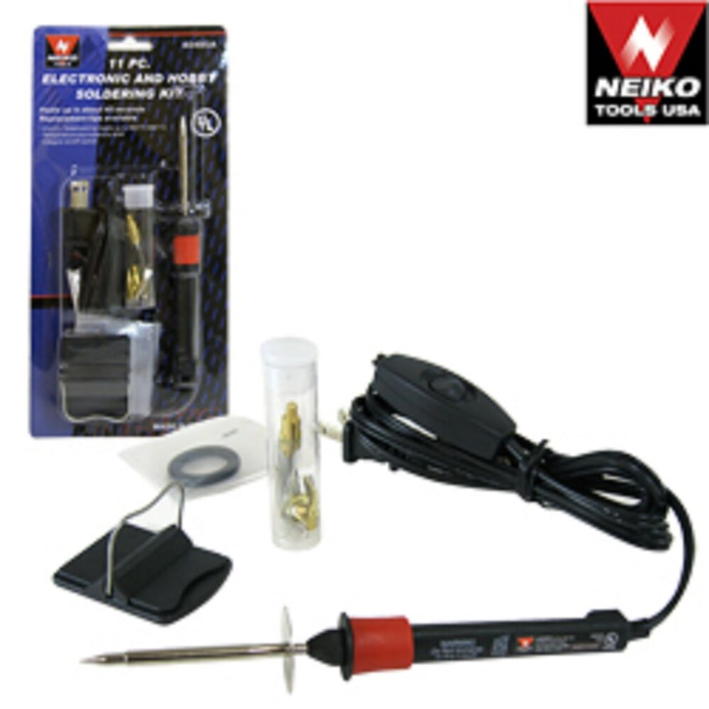 11pc electronic and hobby soldering kit 20w soldering iron ebay. Black Bedroom Furniture Sets. Home Design Ideas