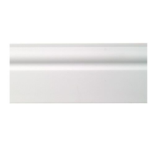Sample Lightweight Plastic Ogee Skirting Board White