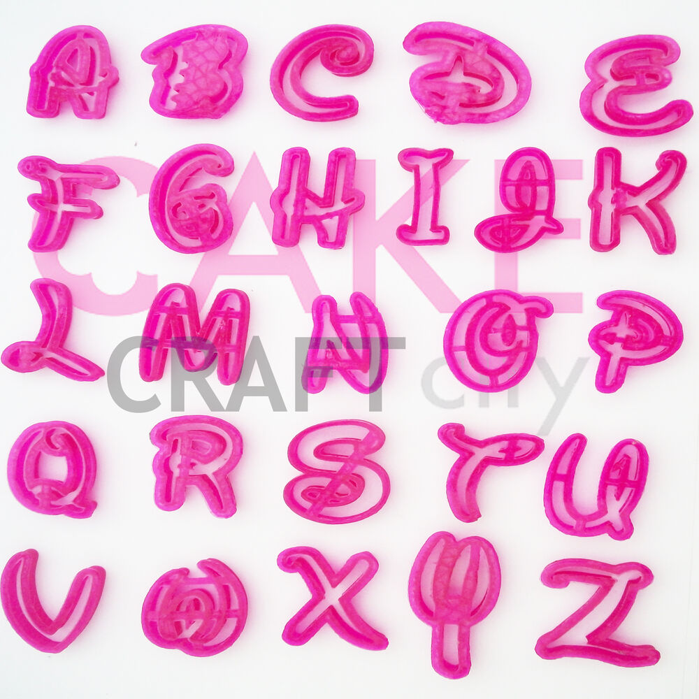 Numbers Letters Funky Disney Font Cake Decorating Icing
