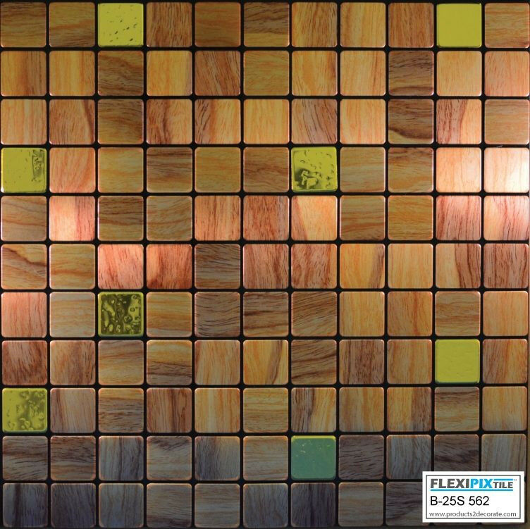 peel and stick kitchen tiles flexipixtile aluminum peel amp stick mosaic tile kitchen 7391