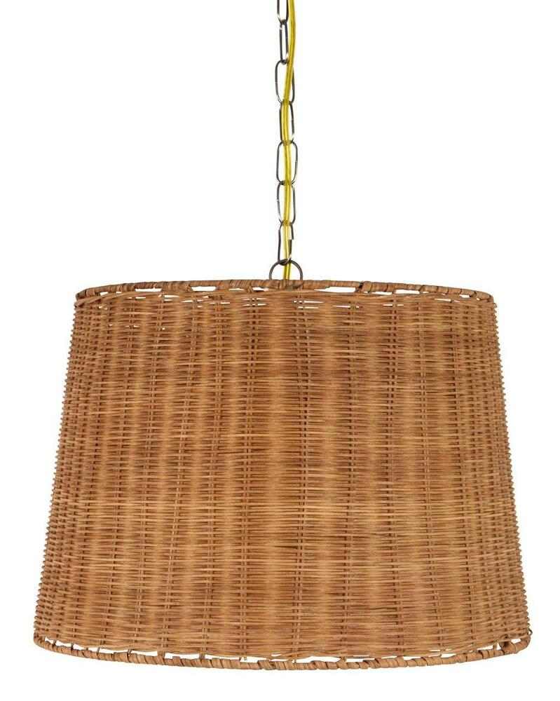 wicker rattan swag lamp lighting fixture hanging plug in light ebay. Black Bedroom Furniture Sets. Home Design Ideas