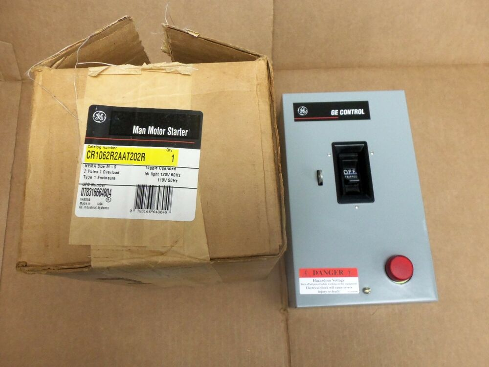 New Ge Cr1062s2aat202r Manual Motor Starter Switch Size M