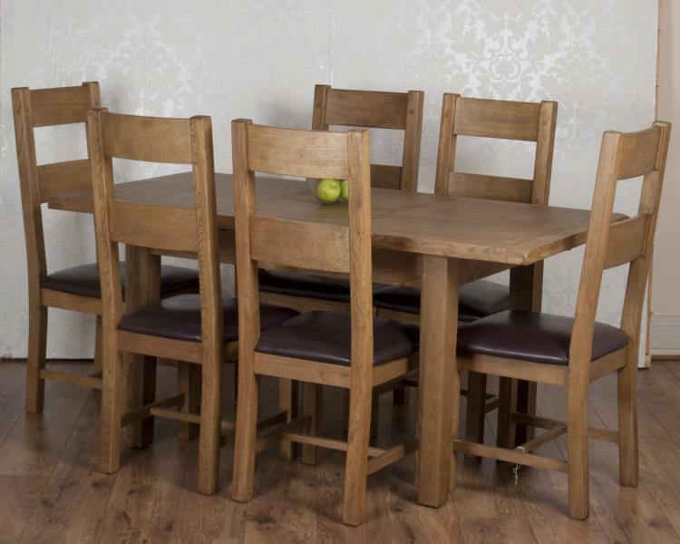 rustic oak dorset extending dining table 6 chairs rrp 1399 ebay
