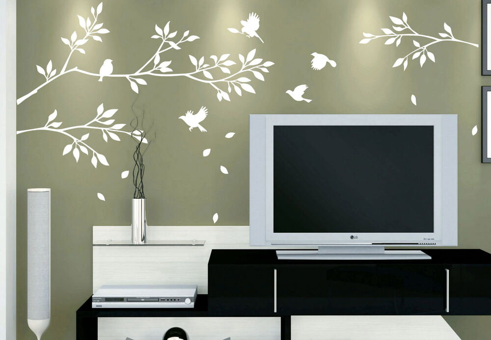 Tree Branches Birds Wall Art Vinyl Wall Sticker DIY Wall Decal HIGH QUALIT