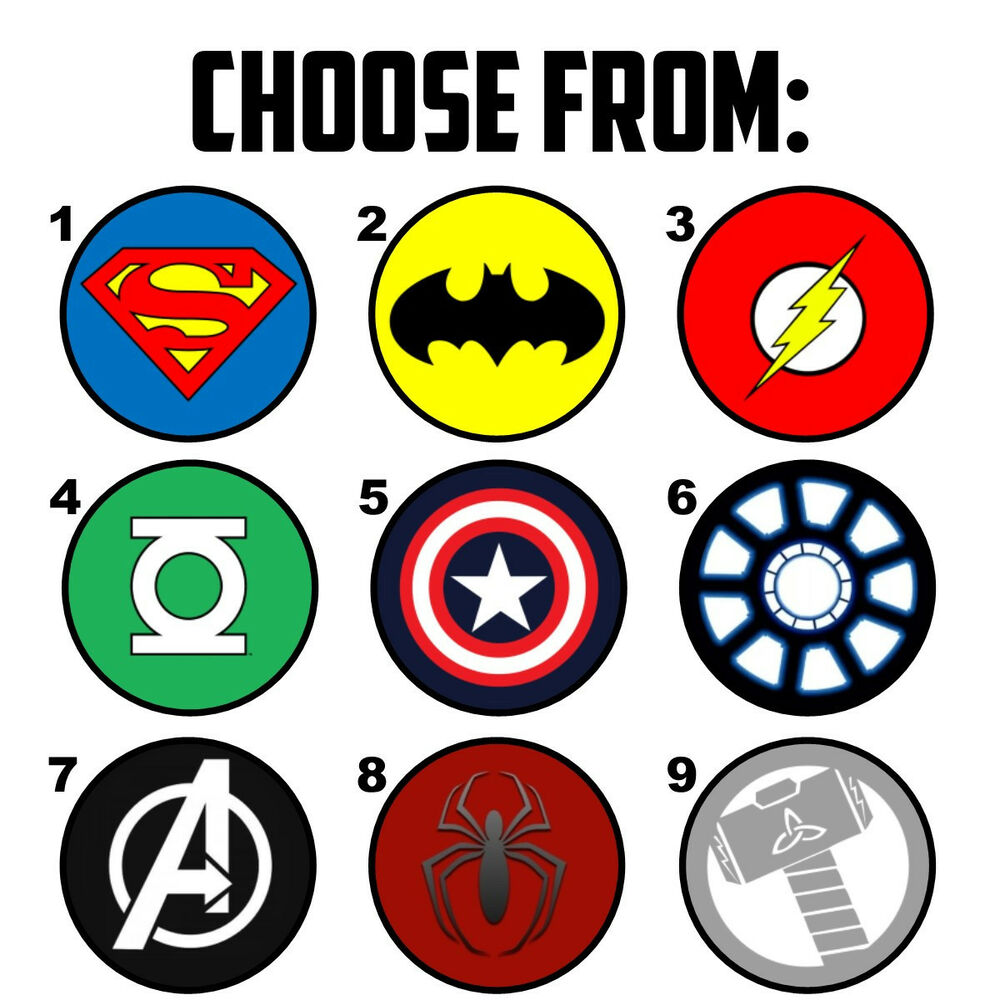This is a picture of Old Fashioned Superhero Logos Printable